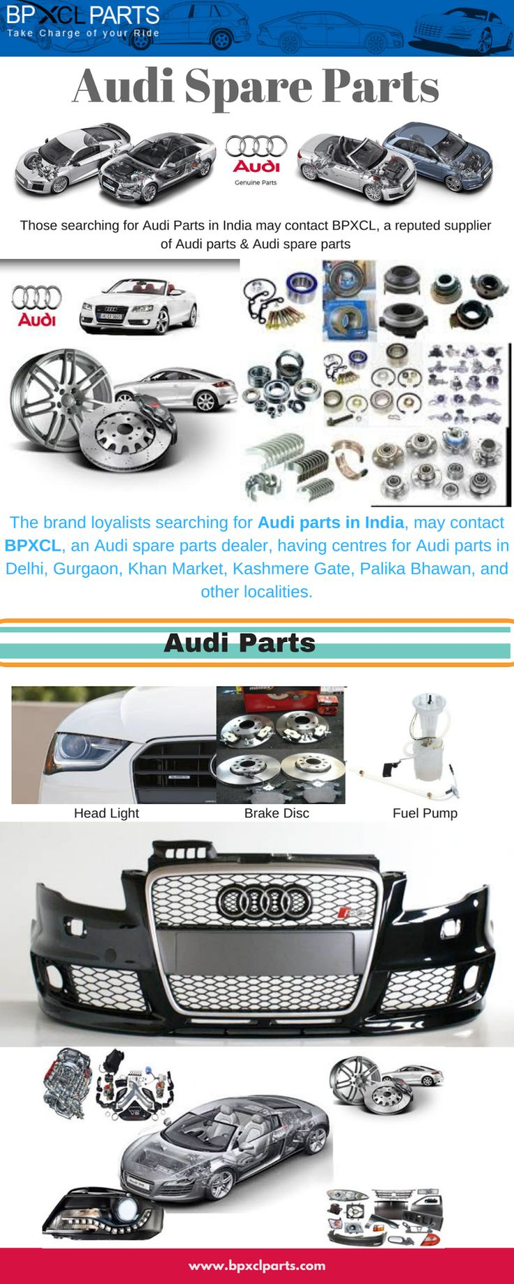 Those on the lookout for Audi A4 parts in India or Spare parts for Audi A4 in India may get in touch with BPXCL, a leading supplier of Spare parts for Audi A4.