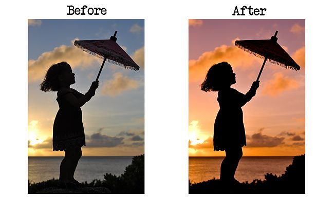 Editing Silhouette Photo in Lightroom video