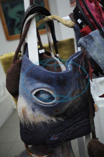Kabelka, kabelky, plstěná ovčí vlna