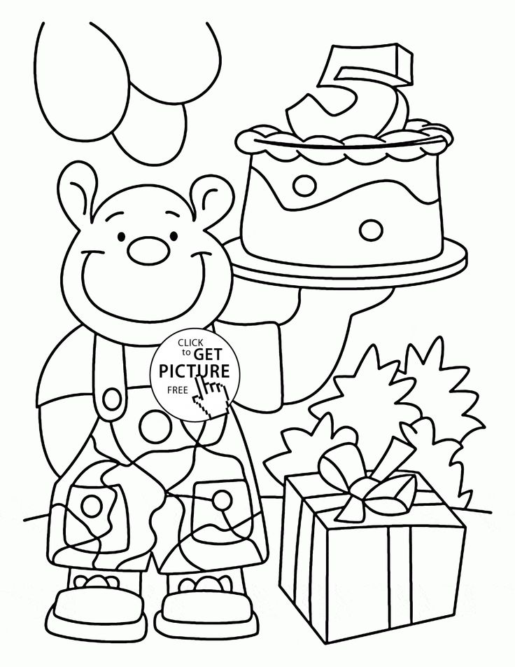 happy 5th birthday card coloring page for kids holiday coloring pages printables free wuppsy