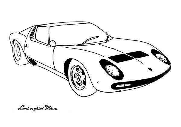 Lamborghini Miura Classic Cars Coloring Pages Cars Coloring Pages Classic Cars Coloring Pages