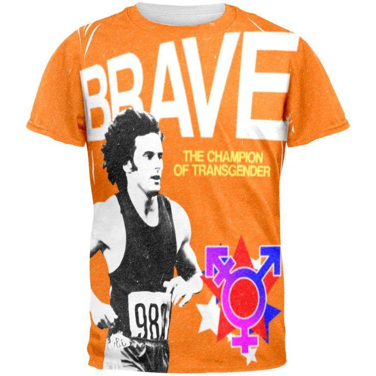 Brave Champion of Transgender Bruce Jenner All Over Adult T-Shirt