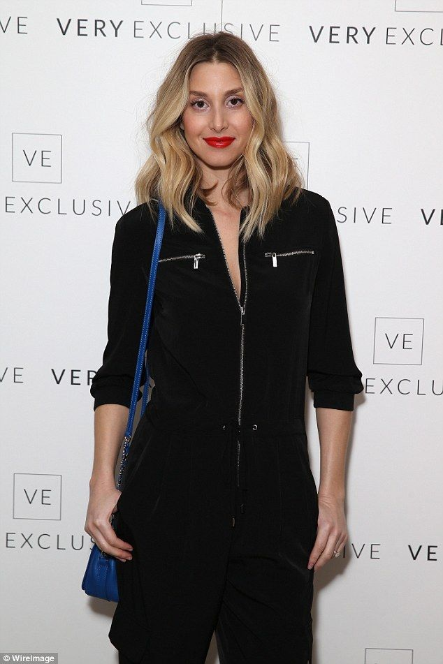 Flying visit: Whitney Port came across the pond especially for the event...