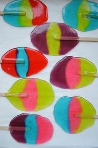 Lollipops from jolly ranchers! Fun kid snack :)