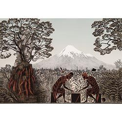 'Te Whiti and Titokowaru discuss the question, 'What is Peace?'' by Marian Maguire