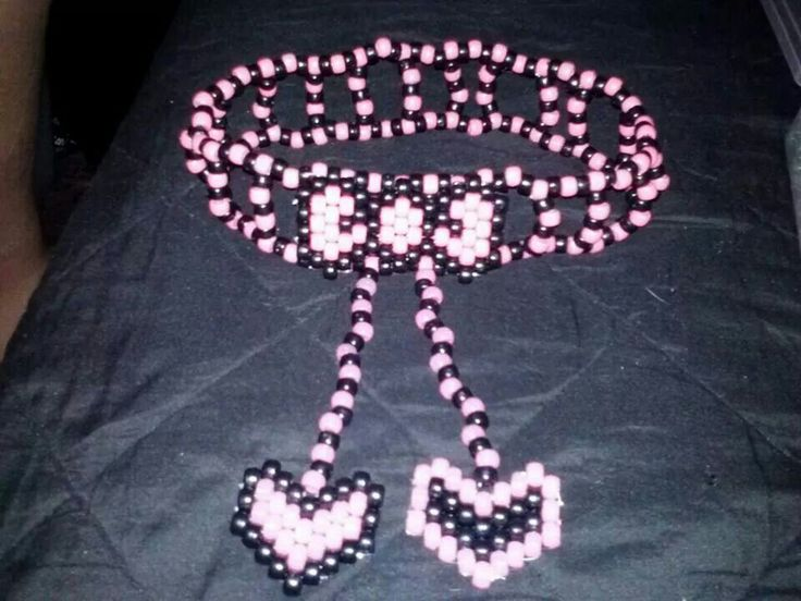 Heart and Bow Kandi Garter