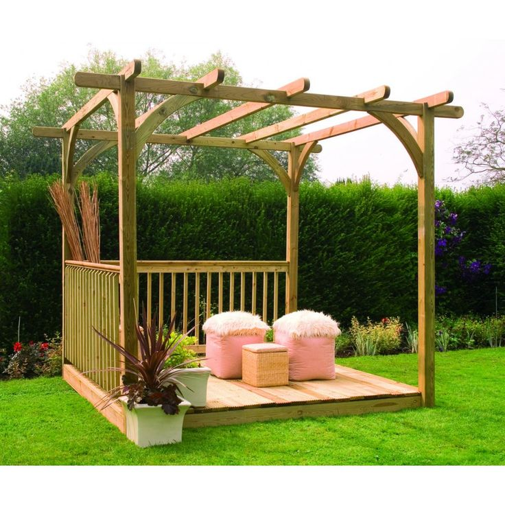 255 best wooden gazebo kits images on pinterest gazebo for Simple pergola ideas
