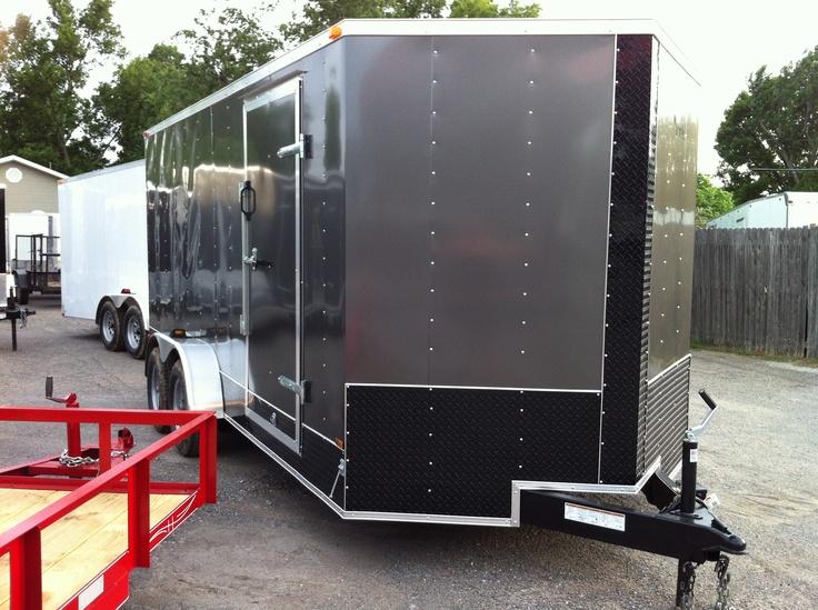 7 X 16 V Nose Lark Enclosed Cargo Trailer Oklahoma Hitch