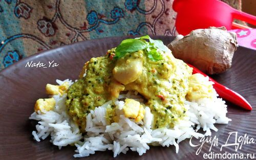 Тайский зеленый карри с курицей от Джейми Оливера | Кулинарные рецепты от «Едим дома!»