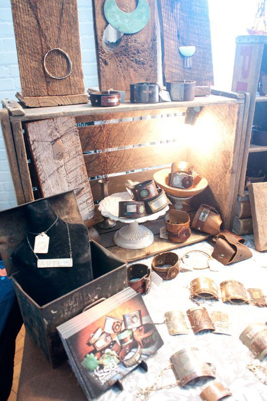 How to Display Your Wares at Craft Shows - SSD Jewelry Display at The Rock & Shop Market