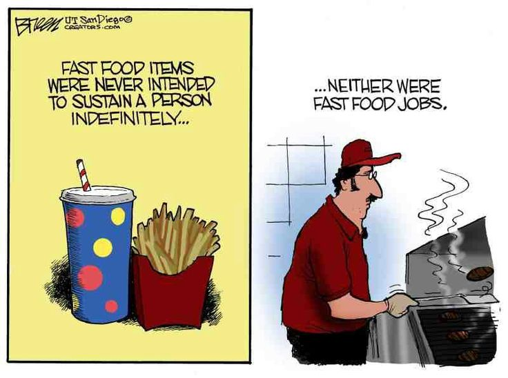 Fast food jobs were only meant to be temporary | Cartoons ...