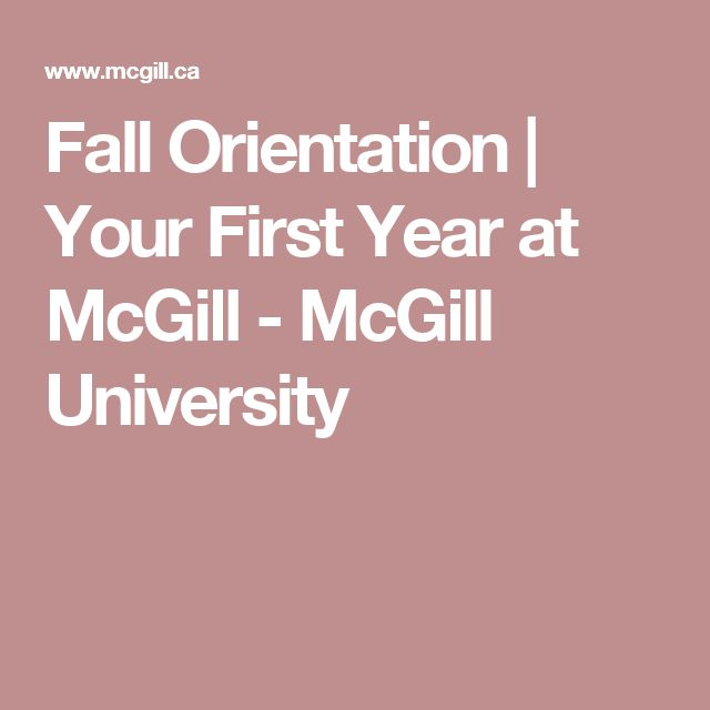 Fall Orientation | Your First Year at McGill - McGill University
