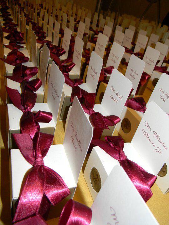 DIY Escort Card Favor Boxes Wedding Chairs