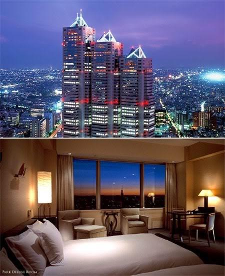 Lady Gaga stayed in the Park Hyatt Tokyo, a beautiful 5-star hotel in Shinjuku. http://tokyo.park.hyatt.com
