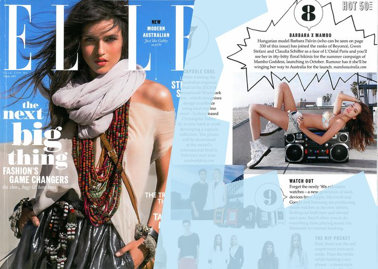 Our Mambo Goddess Barbara Palvin featured in this months Elle Australia