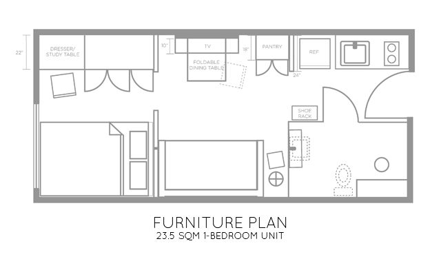 Studio or converted 1-bedroom units are now becoming my favorite project. They are quick to design and I love the challenge of space planning in such very limited area. A young soon-to-be married c…