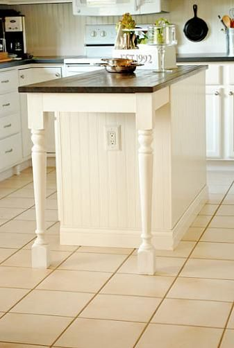 Kitchen Island Makeover Tutorial - At The Picket Fence