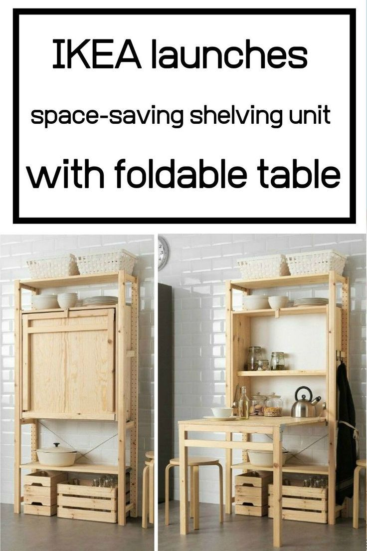Ikea Launches Space Saving Shelving Unit With Foldable Table