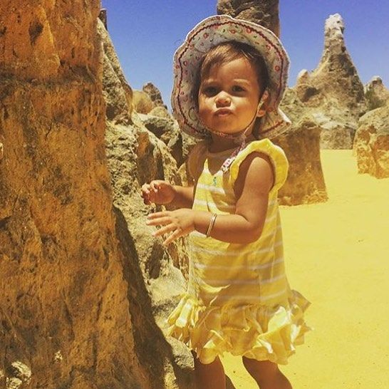 We have seen amazing posts of kids with our bangles from all around the world . But this photo has the most amazing colour . @marikasilverthorne  is at the Pinnacles in Western Australia. #mothernatureisawesome #desertcolours  #creatingmemories  #cocoaandvanilla