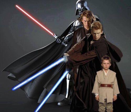 Afbeelding via We Heart It https://weheartit.com/entry/121233415/via/9280073 #AnakinSkywalker #lightsaber #starwars #darhvader