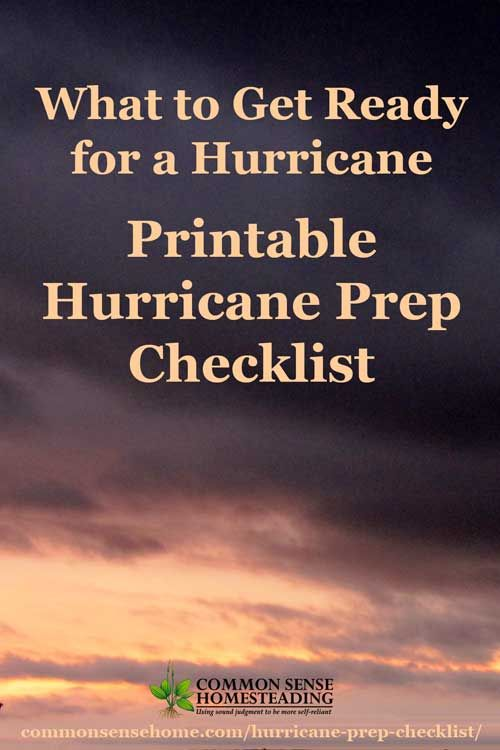 25 Point Hurricane Prep Checklist - What you need to prepare before a hurricane hits, including food, water, documents, pet care and other essential items.