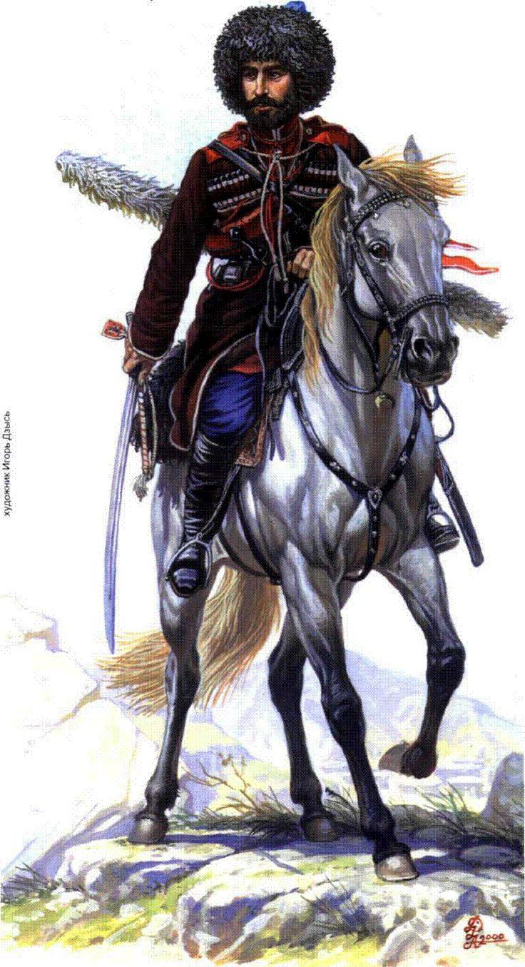 The rider of the Dagestan irregular cavalry regiment 1857-1861