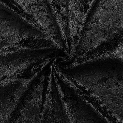 From 2.89 Black Crushed Velvet Fabric By Stoffkontor