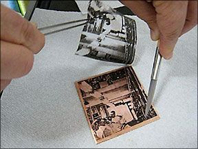 Photoetching metal is simple AND FUN! Etching can be used for printing processes, as an artifact of art, or for roller print embellishment. Find out more!