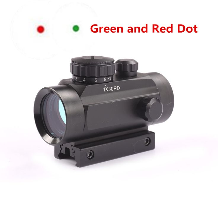 Hunting 1X30 Red Green Dot Sight Optics Tactical Scope 20mm 11mm Weaver Mounts //Price: £ 23.98 & FREE Shipping //   #outdoor #love #adventure
