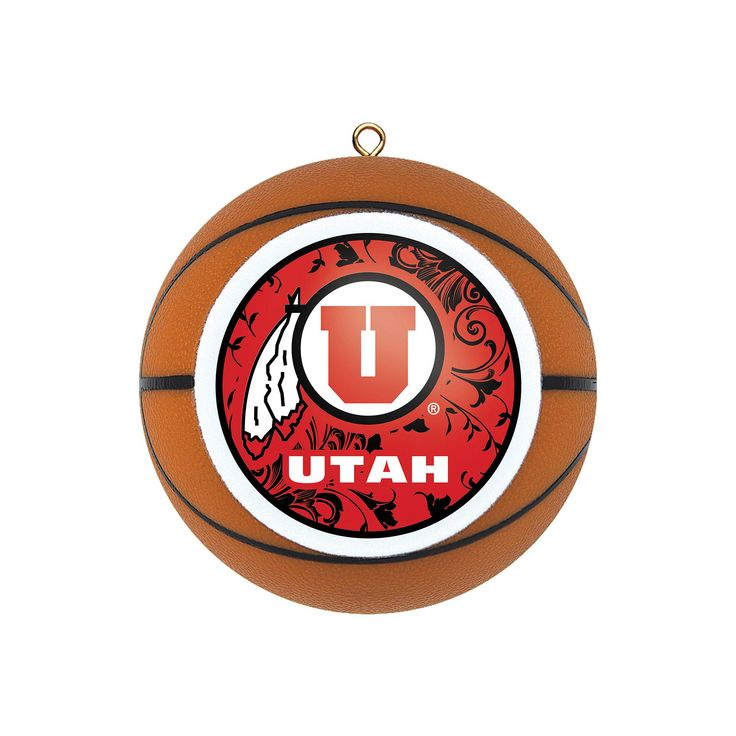 Utah Utes Basketball Christmas Ornament, Multicolor