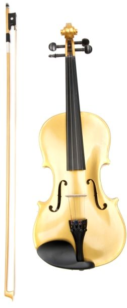 A Gold violin and Bow
