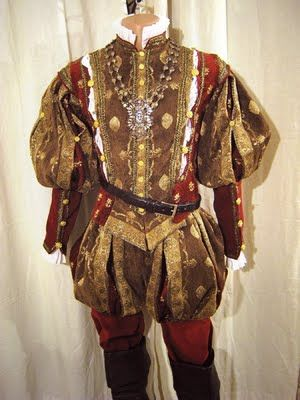Men's Tudor Doublet and Pants Renaissance Tudor Costume Men's Medieval Renaissance Doublet. Male Costume from the Tudor era. Upper Class