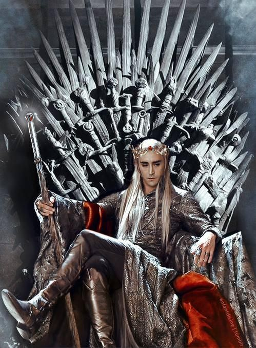 Finally...someone who looks good on that hideous looking throne.