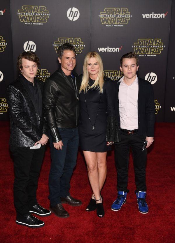 "(L-R) John Owen Lowe, actor Rob Lowe, Sheryl Berkoff & Matthew Edward Lowe.- Star Wars: The Force Awakens Red Carpet Premieres In Hollywood & Worldwide -  Star Wars - @starwars - #StarWars - @EpisodeVII -  Force Friday - #TheForceAwakens - FuTurXTV & Funk Gumbo Radio: http://www.live365.com/stations/sirhobson and ""Like"" us at: https://www.facebook.com/FUNKGUMBORADIO"