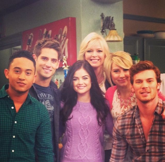 With the baby daddy cast!