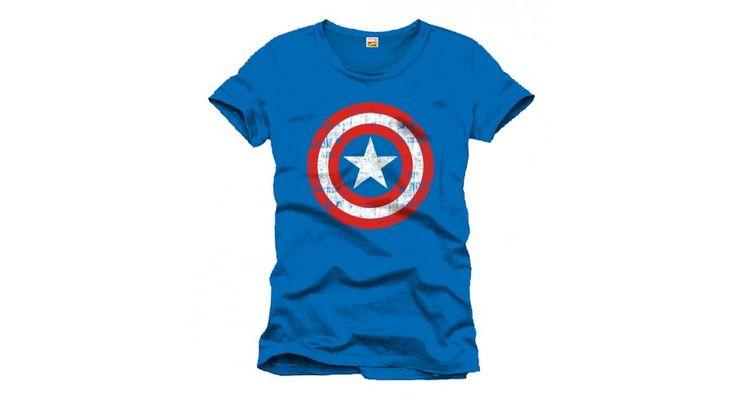 Marvel Captain America- Amerika Kapitány Pajzs logó póló