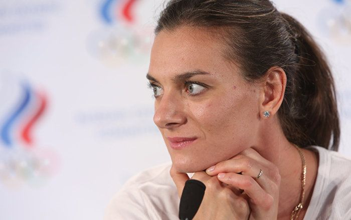 Russian two-time Olympic champion pole vaulter Yelena Isinbayeva was elected to…