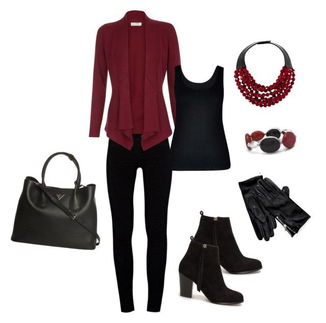 """""""Untitled #26"""" by reetta-v on Polyvore featuring J Brand, Monsoon, City Chic, Nly Shoes, Prada, Chico's, Fairchild Baldwin and Tommy Hilfiger"""