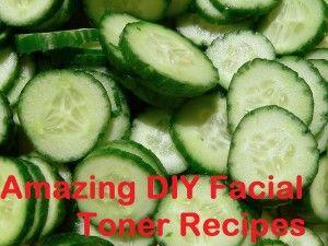Natural Toner recipes: cucumber/ACV