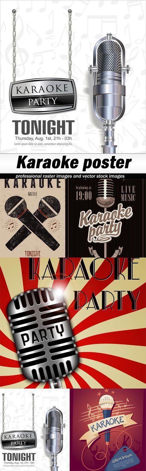 Karaoke poster-5xEPS