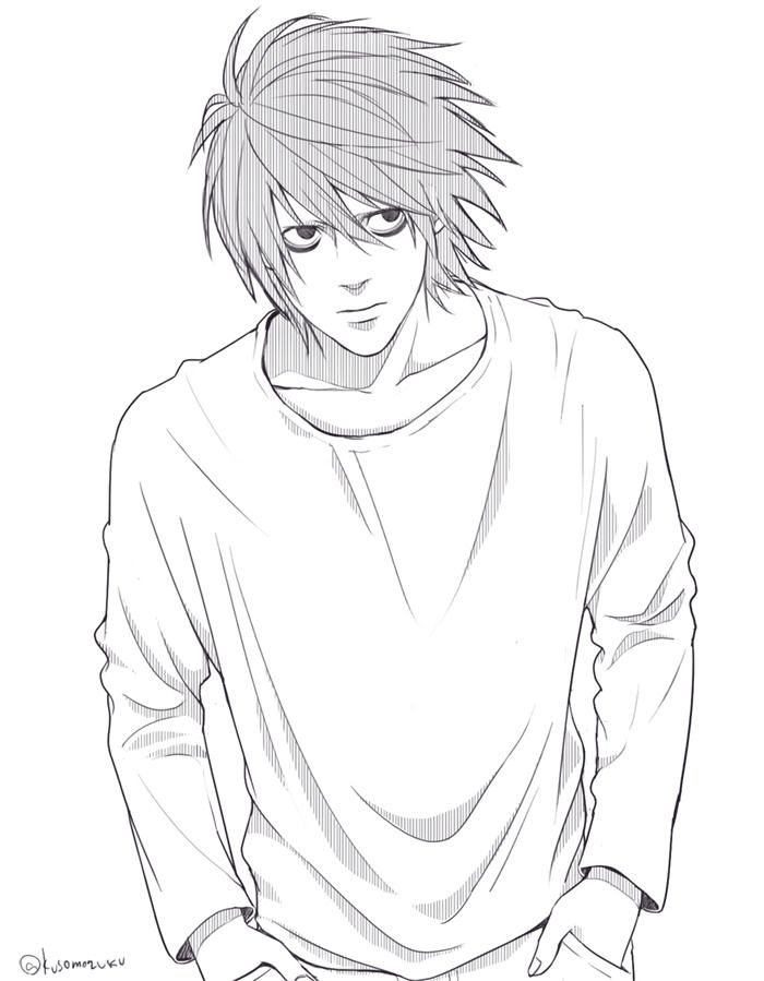 My Illustration By Sukumo Death Note L Death Note Death Records