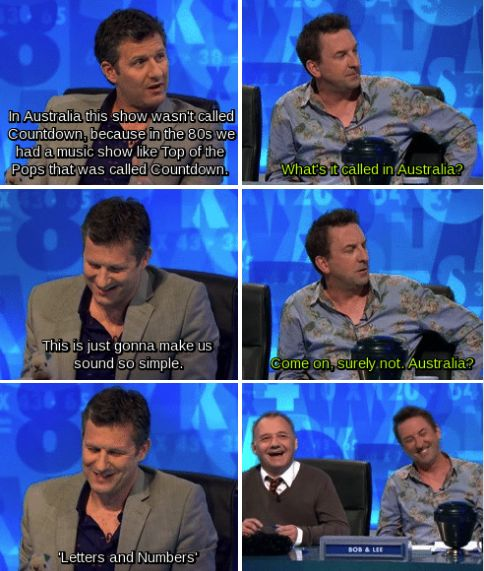 "When Adam Hills didn't do a lot to confound stereotypes. | 34 Times ""8 Out Of 10 Cats Does Countdown"" Was Almost Too Funny"