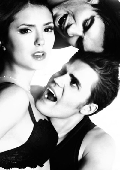 Elena with Damon and Stefan Salvatore