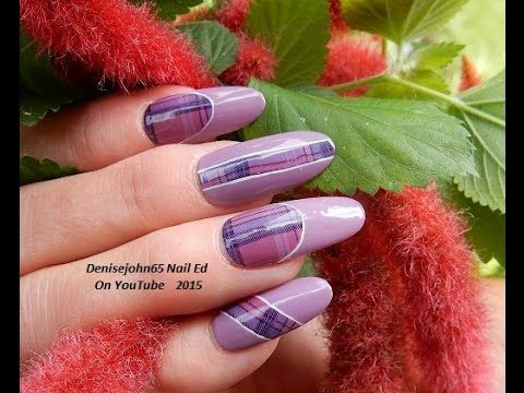 LADYQUEEN.COM Review  OH MY !!!   &    PURPLE PLAID GEL TUTORIAL