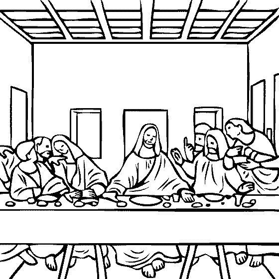 1000+ images about Coloring -Famous Art on Pinterest ... Da Vinci Last Supper Coloring Pages