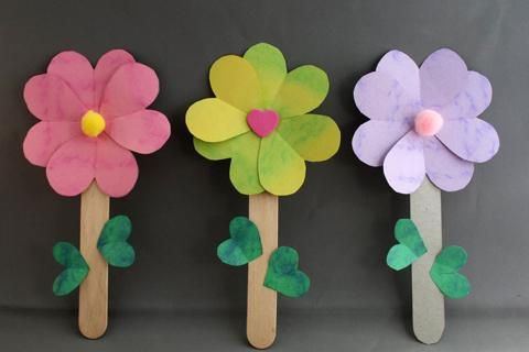 flowers made from hearts