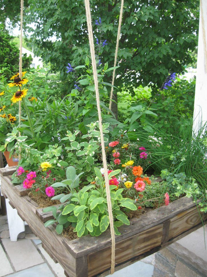 hanging pallet garden gardening with pallets pinterest