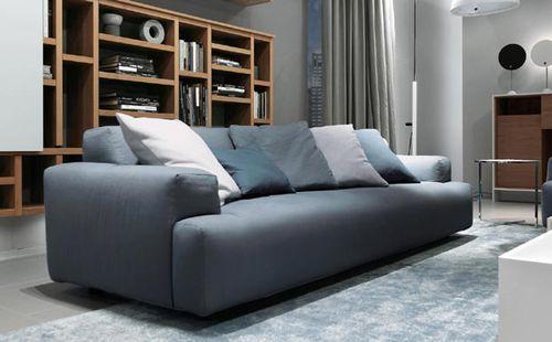 Современный диван / из кожи / из ткани / от Мауро Липпарини NORMA MisuraEmme
