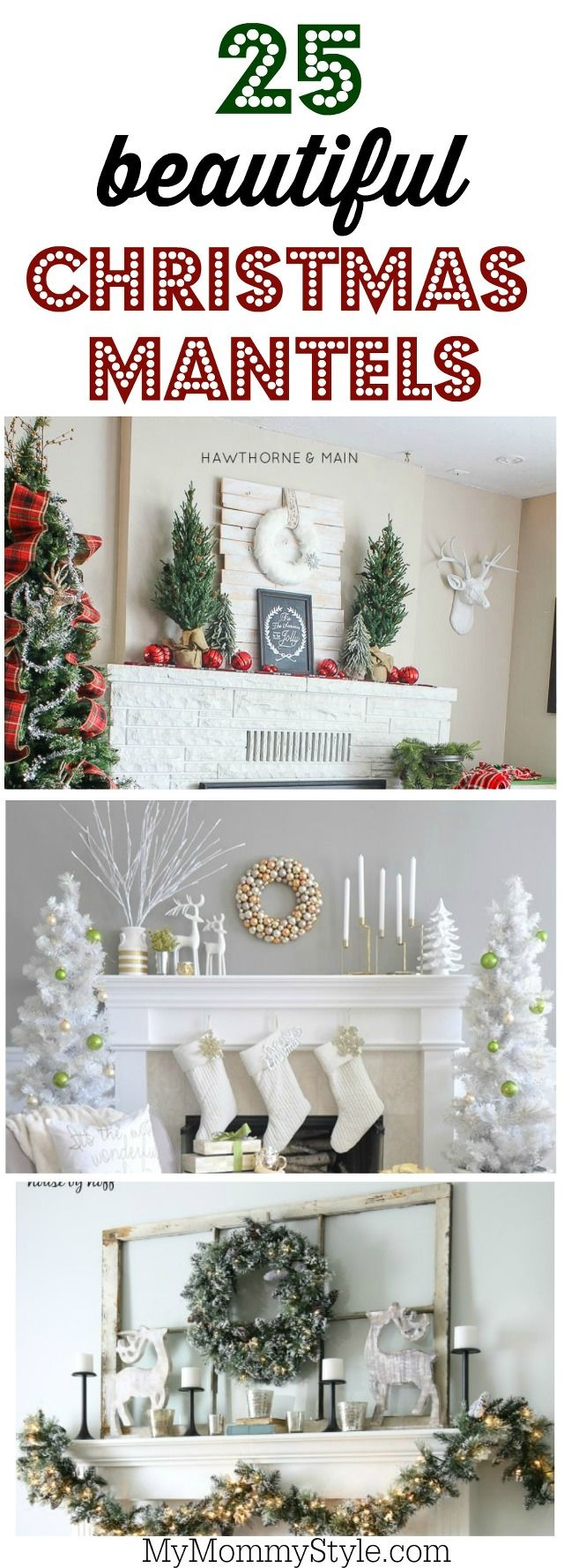 Christmas mantel decorations under tv - 25 Beautiful Christmas Mantel Decorating Ideas