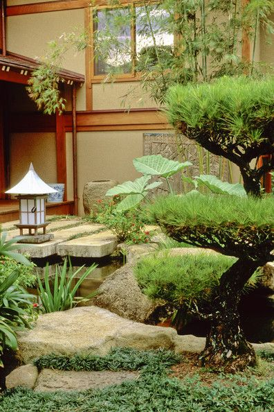 This landscaping is simple, yet it captures the essence of nature.